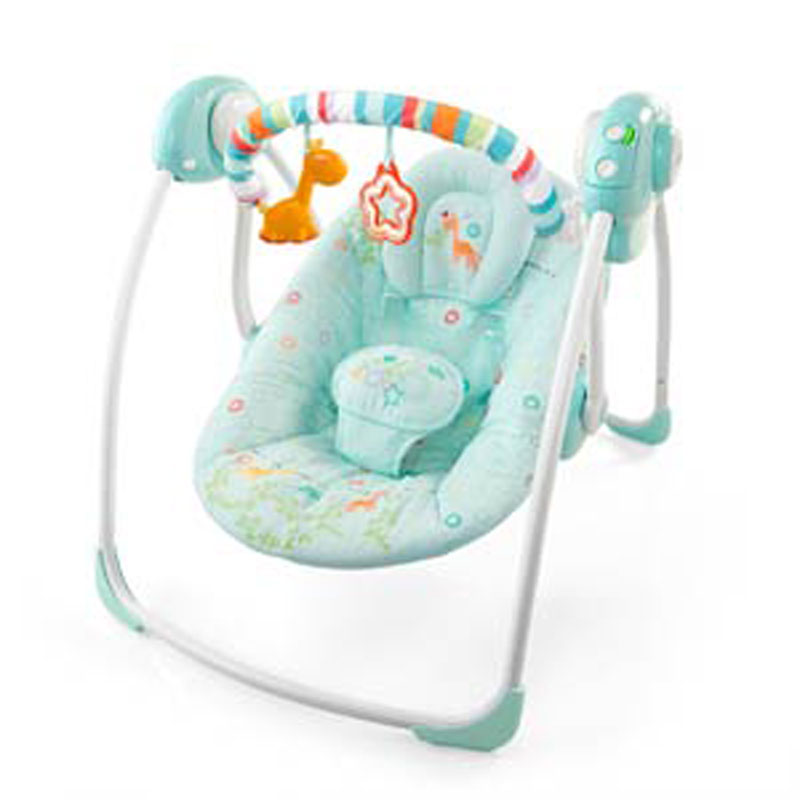 Portable baby swing Source Swing Bright Starts Savana Dreams 6963 .
