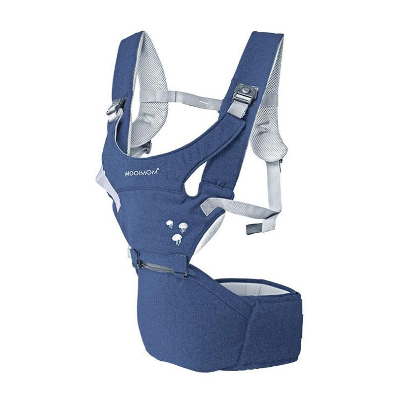 1ebeff21323 Mooimom Lightweight Hipseat Carrier H7001N Navy Blue